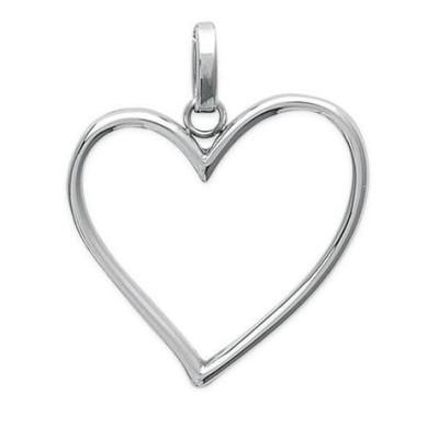 Pendentif coeur pour femme en acier inoxydable, Juliana