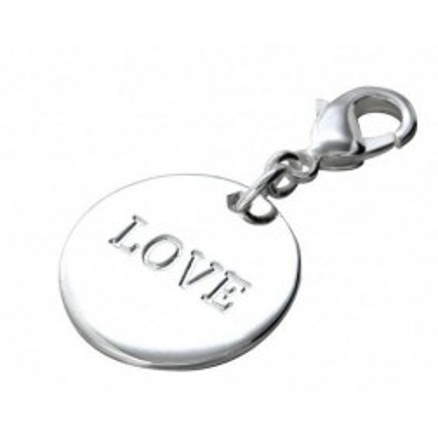 Charm tendance pour femme LZ argent - Médaille Love