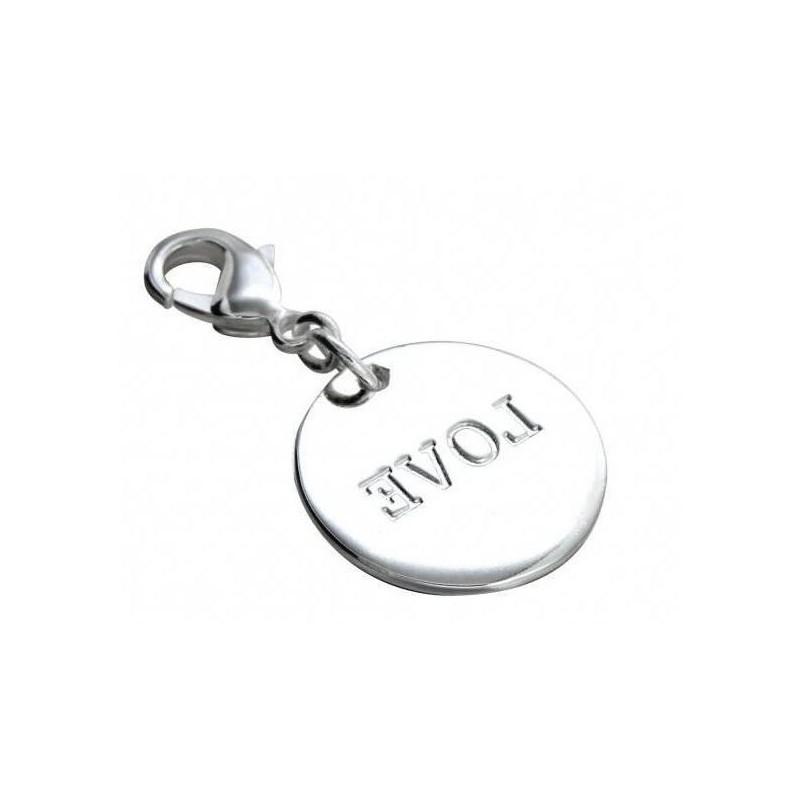 Charm tendance pour femme LZ en argent 925, Médaille Love