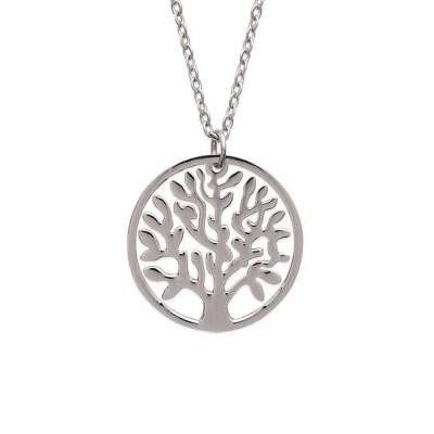 Bijoux arbre de vie pour femme - Collier en acier
