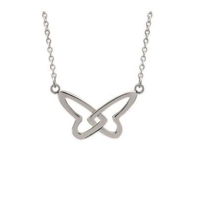 Collier pour femme en acier, pendentif papillon - Melina - Lyn&Or Bijoux