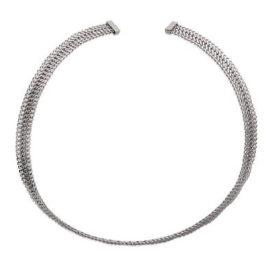 Collier rigide pour femme en acier gris - Mabelle - Lyn&Or Bijoux