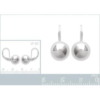 Boucles d'oreilles en argent massif pour femme, Ellina