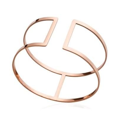 Bracelet manchette en acier rose, Fyva