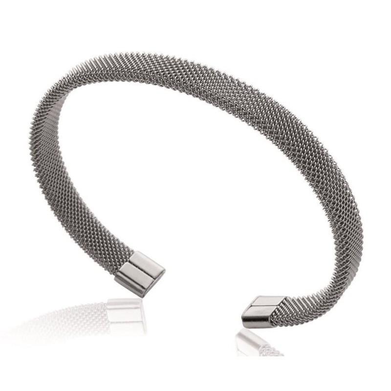 bijoux acier inoxydable - bracelet rigide ouvert pour femme