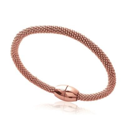 Bracelet aimanté en acier rose pour femme, Flori