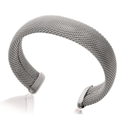 Bracelet rigide ouvert rigide pour femme en acier, Gala