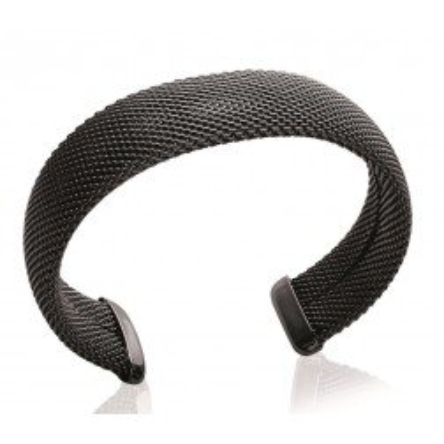 Bracelet jonc en acier noir pour femme - Gala - Lyn&Or Bijoux