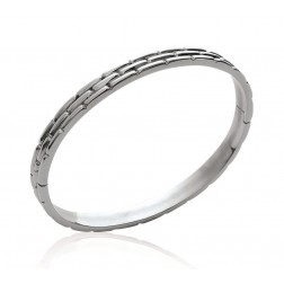 Bracelet rigide ouvert rigide pour femme en acier, Kafalla