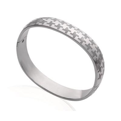 Bracelet jonc en acier pour femme - Haute-couture - Lyn&Or Bijoux