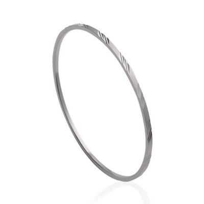 Bracelet rigide ouvert rigide pour femme en acier, Matrice