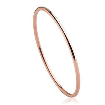 Bracelet rigide ouvert rigide pour femme en acier rose, Mina