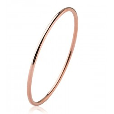 Bracelet jonc en acier rose pour femme - Mina - Lyn&Or Bijoux