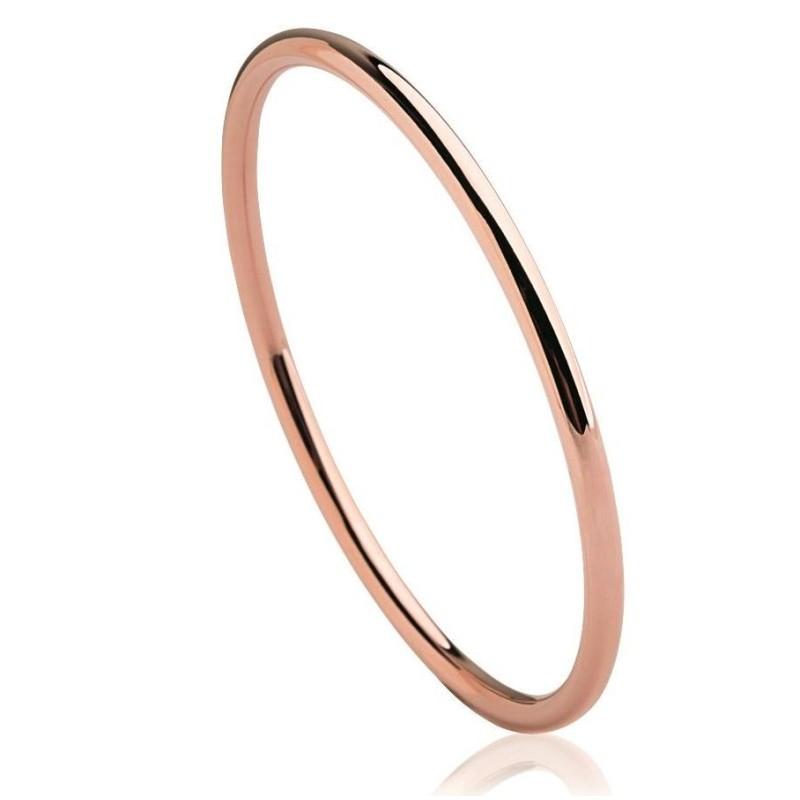 Bracelet rigide ouvert rigide pour femme en acier rose, Mira