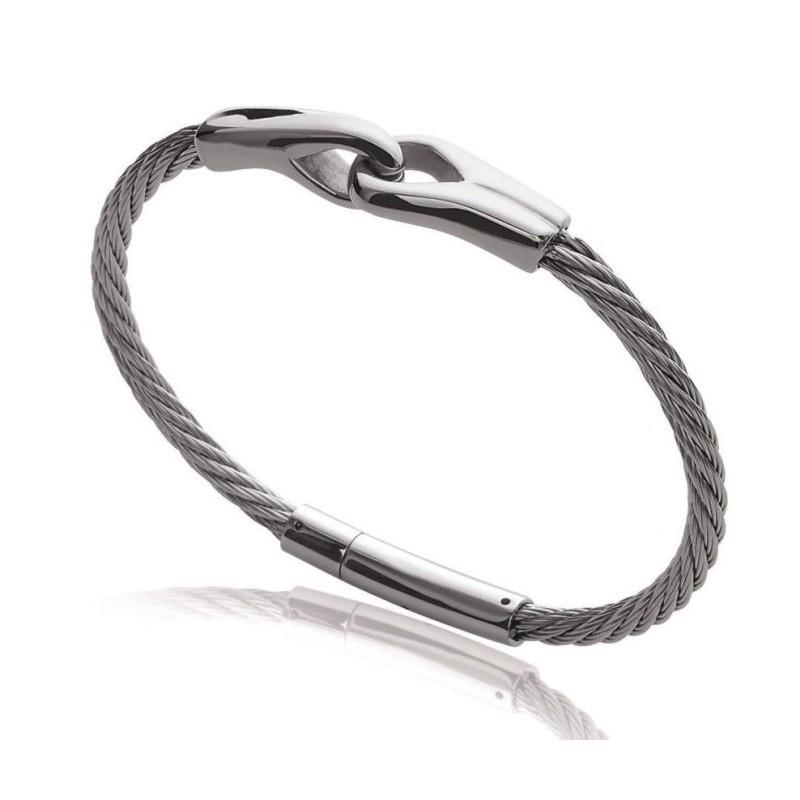 Bracelet câble en acier pour homme - Syn - Lyn&Or Bijoux
