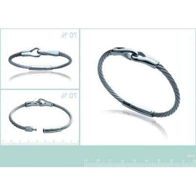 Bracelet câble en acier pour homme, Syn