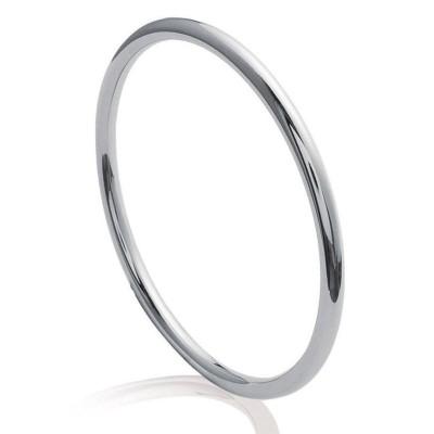 Bracelet jonc en acier gris pour femme, Mira