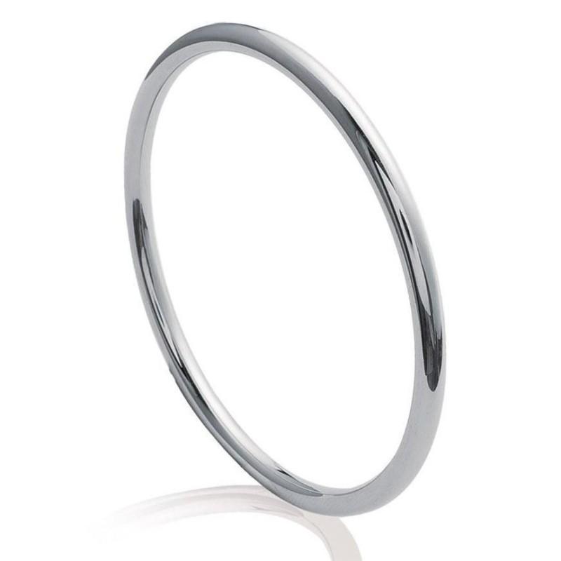 Bracelet jonc pour femme en acier gris - Mira - Lyn&Or Bijoux