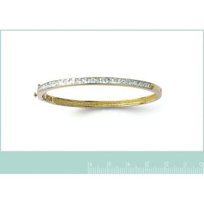 Bracelet rigide ouvert en plaqué or pour femme, Angèle