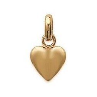 cadeau saint valentin, Pendentif en plaqué or pour femme, Coeur