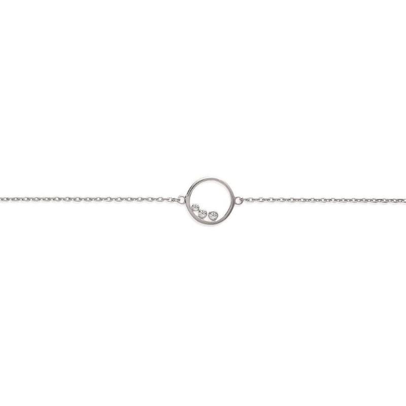 Bracelet en argent et zirconium pour femme - Cercle brillant - Lyn&Or Bijoux