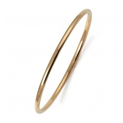 Bracelet jonc en plaqué or Fil 3 mm - Esmeralda