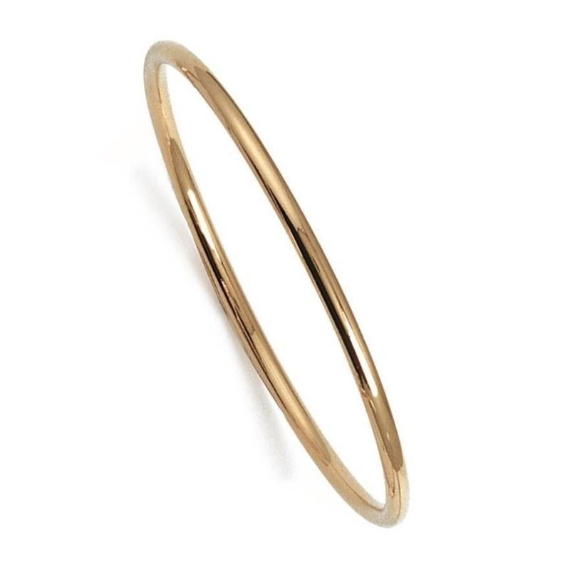 Bracelet jonc plaqué or jaune pour femme