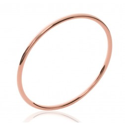 Bracelet jonc en plaqué or rose, Fil 3 mm, semainier