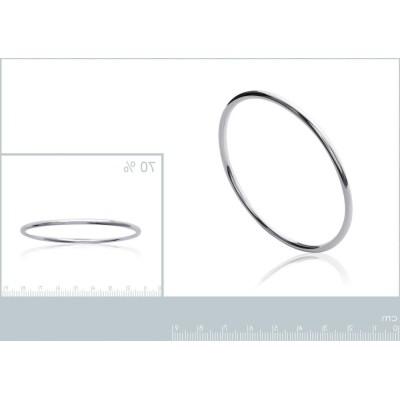 Bracelet rigide ouvert en argent, Fil 3 mm, semainier