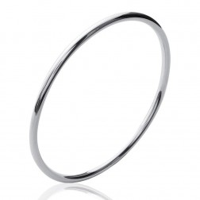 Bracelet jonc en argent, Fil 3 mm, semainier