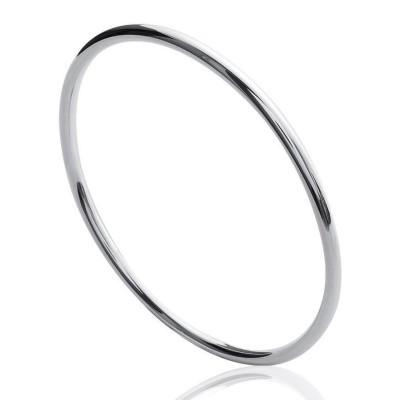 Bracelet jonc femme en argent, Fil 3 mm - Esmeralda - Lyn&Or Bijoux