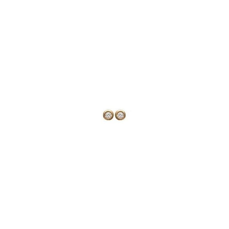 Boucles d'oreille en plaqué or 925 femme, Just Strass