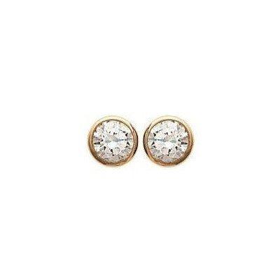 Boucles d'oreille femme et enfant, plaqué or & zircon microserti - Shiny - Lyn&Or Bijoux