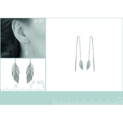 boucle d'oreille pendantes en argent 925 fantaisie pour femme, Bird