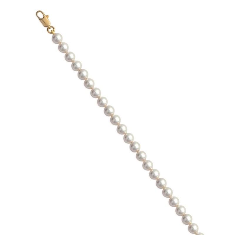 Bracelet de perles blanches de Majorque 6 mm, Pénélope