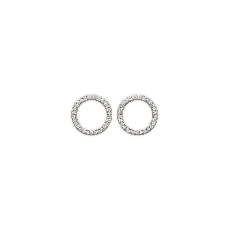 Boucles d'oreilles cercles en argent, Rive Gauche
