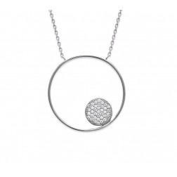 Collier cercle zirconium et argent, Imagine