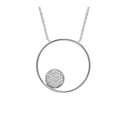 Collier cercle zirconium et argent, Imagine