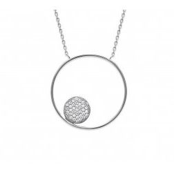 Collier cercle zirconium et argent - Imagine