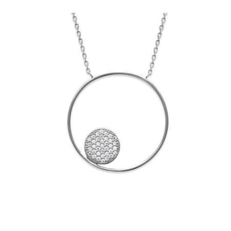 Collier cercle zirconium et argent - Imagine