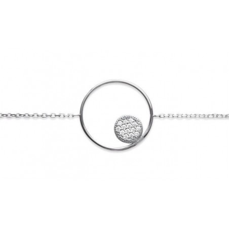 Bracelet cercle zirconium et argent - Imagine