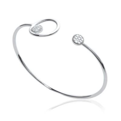 Bracelet jonc zirconium et argent pour femme - Imagine - Lyn&Or Bijoux