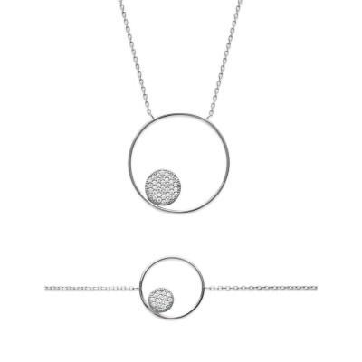 Parure collier et gourmette argent pour femme - Imagine - Lyn&Or Bijoux