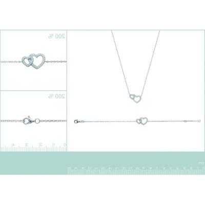 collier pour femme coeur en argent 925 et zircone, Elouana