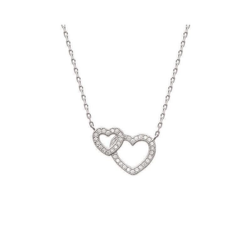 collier femme avec coeur