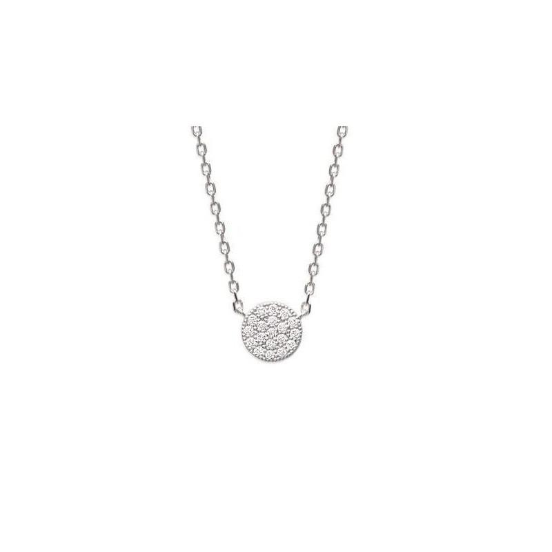 collier femme avec pendentif argent et oxyde de zirconium GEMSTAR, Solia