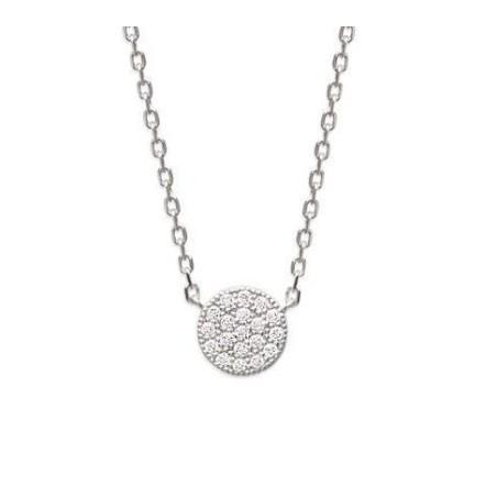 collier femme avec pendentif argent et oxyde de zirconium GEMSTAR - Solia
