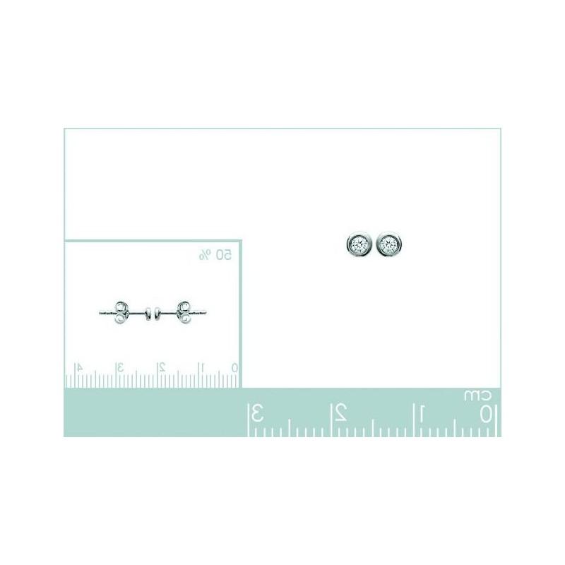 Boucles d'oreille en argent 925, Just Strass