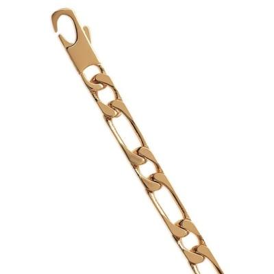 Bracelet homme plaqué or 7 mm - Figaro 1/1 - Lyn&Or Bijoux