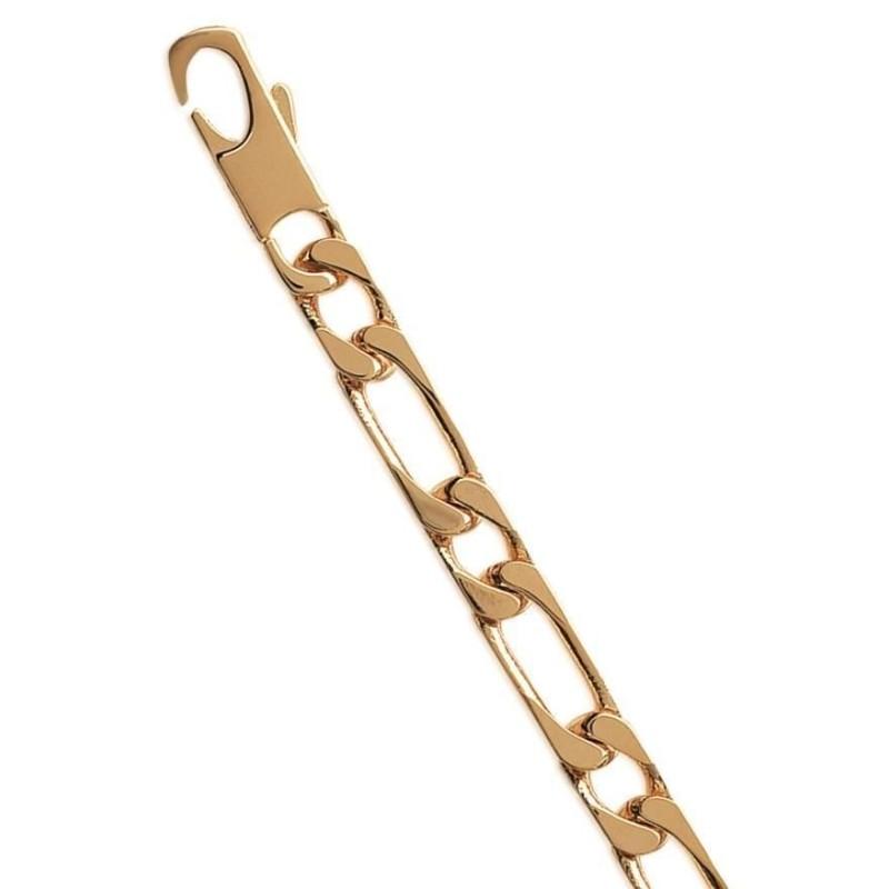 Bracelet homme plaqué or 7 mm - Figaro 1/1